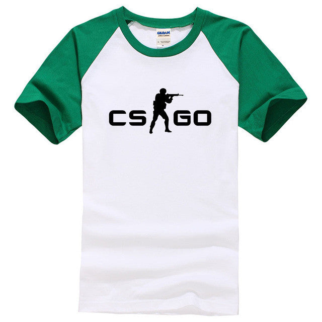CS:GO 100% Cotton Green/White Men