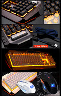 """Mamba Snake"" - Wired Multimedia Ergonomic Gaming Keyboard & Mouse Combo"
