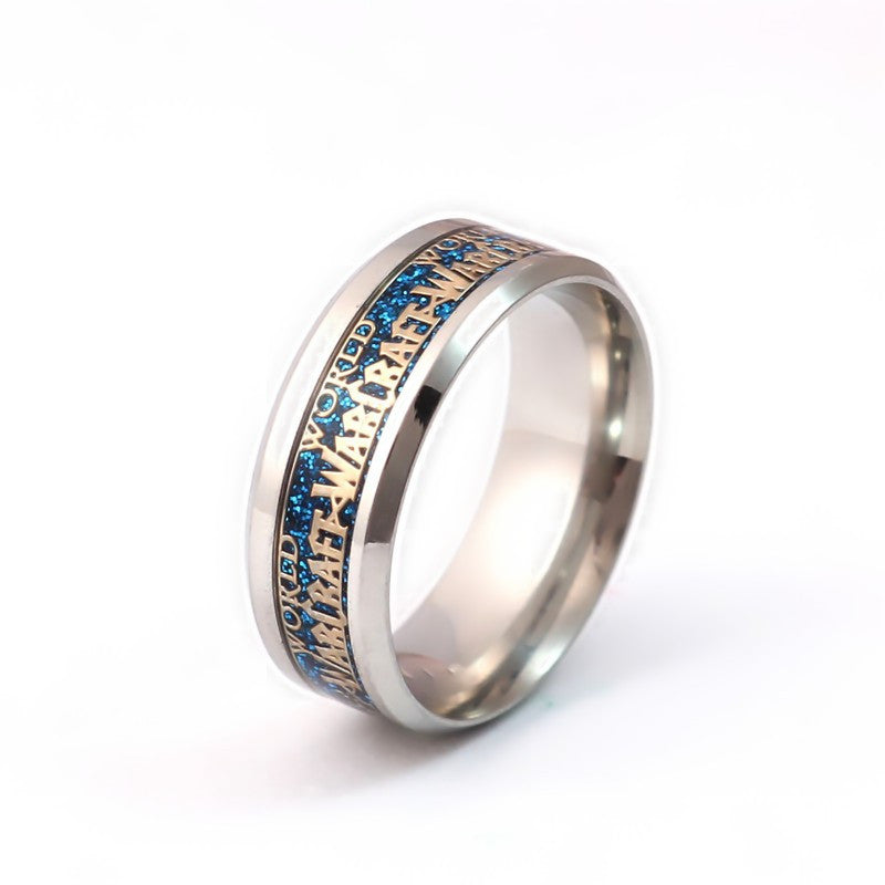 World of Warcraft Stainless Steel Ring Black/White