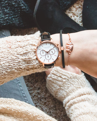 Women's Rose Gold Chronograph Watch
