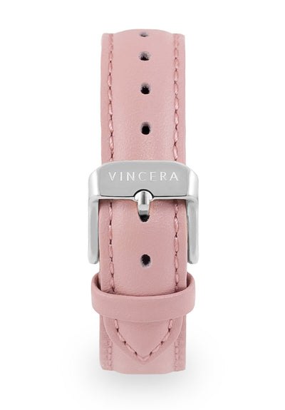 Women's Pink Leather Band Watch