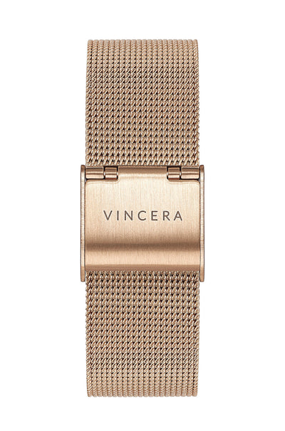 Women's Rose Gold Mesh Watch Band