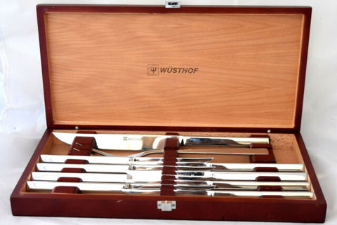 Wusthof 10 Piece Stainless Steel Carving & Steak Knife Set with Presentation Chest