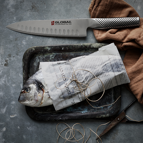 "GLOBAL 35th Anniversary 7.5"" Chef's Knife - Hollow Edge"