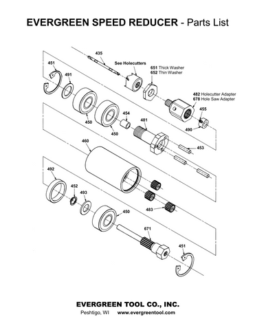 Evergreen Speed Reducer Components