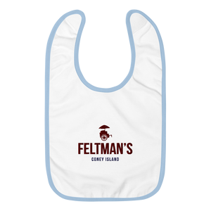 Feltman's Embroidered Baby Bib
