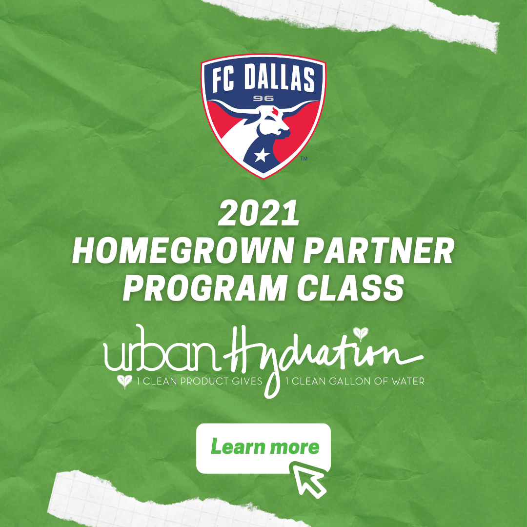FC Dallas Introduces Urban Hydration as a 2021 Homegrown Partner