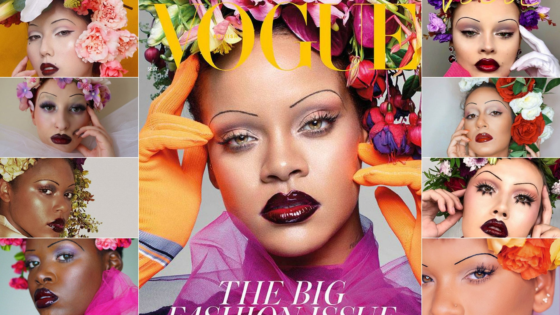 RIRI INSPIRES WITH BRITISH VOGUE COVER