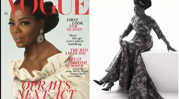 Oprah On Cover Of British Vogue.