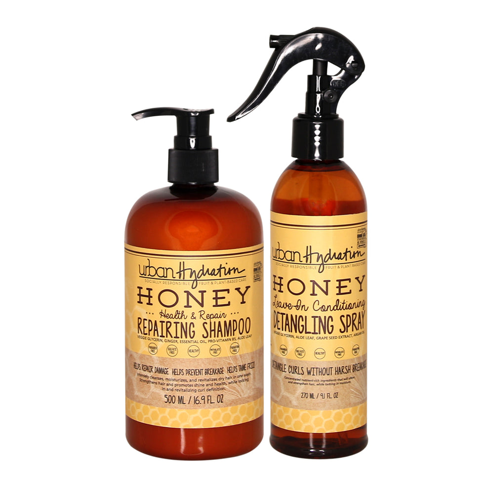 Load image into Gallery viewer, Honey Health & Repair Shampoo & Detangling Spray Set (2 Items)