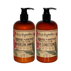 Load image into Gallery viewer, Rose + Hemp Shampoo & Conditioner (2pc) Set
