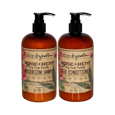 Rose + Hemp Shampoo & Conditioner - 2pc Set