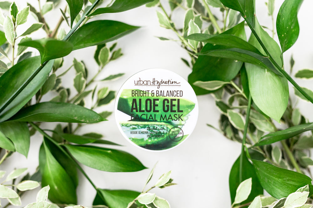 Bright & Balanced Aloe Vera Leaf Facial Gel Mask