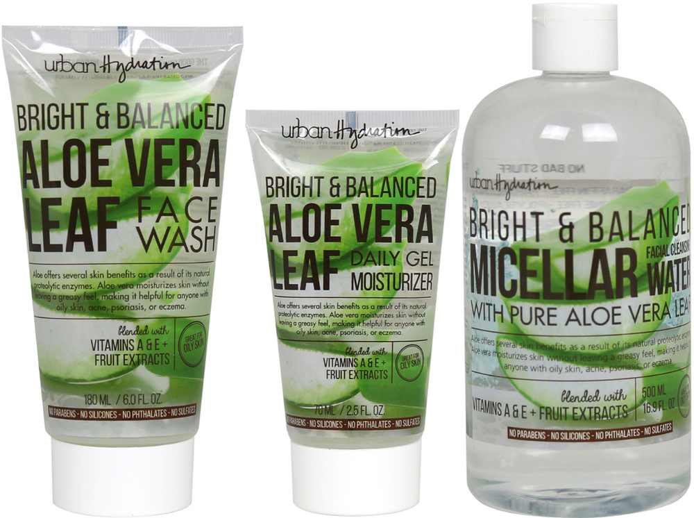 Load image into Gallery viewer, Bright & Balanced Aloe Vera Cleanse & Hydrate - 3pc Set