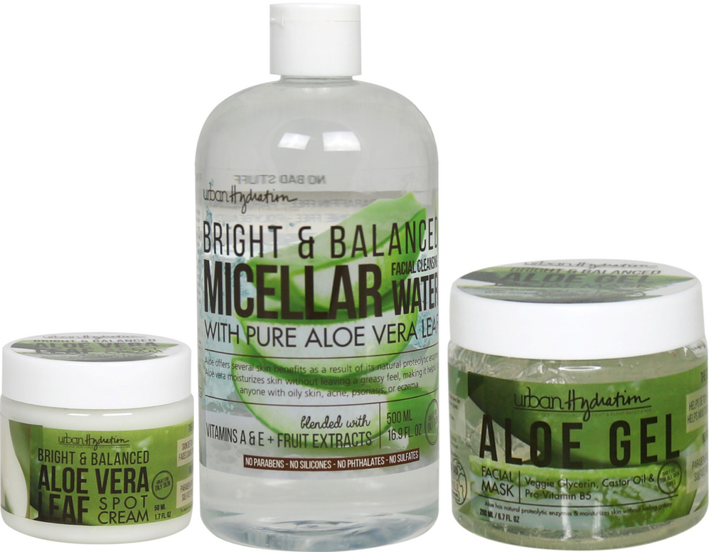 Bright & Balanced Aloe Vera Cleanse & Treat - 3pc Set