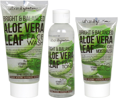 Bright & Balanced Aloe Vera Face Wash & Tone - 3pc Set