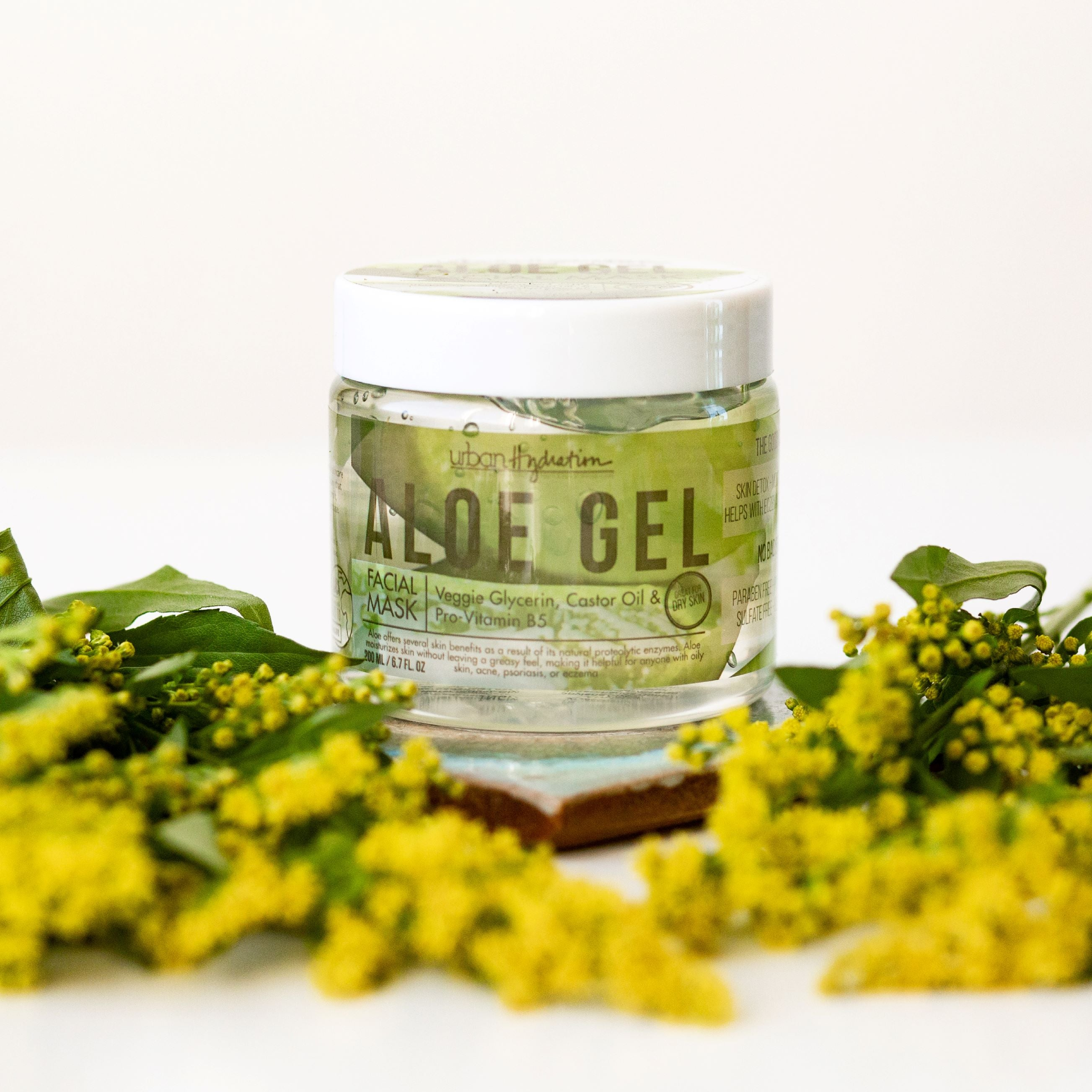 Bright & Balanced Aloe Vera Leaf Gel Face Mask