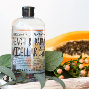 Load image into Gallery viewer, Brighten & Glow Peach & Papaya Micellar Cleansing Water