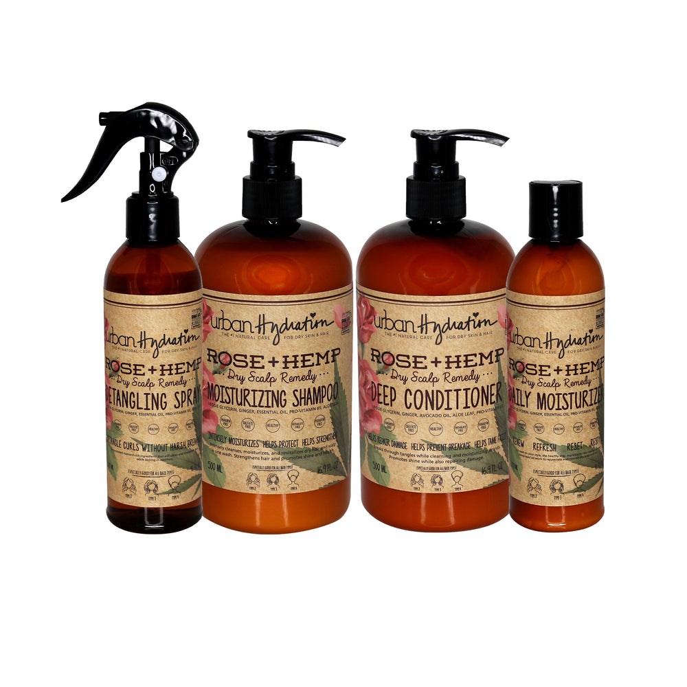 Rose + Hemp Haircare (4pc) Set