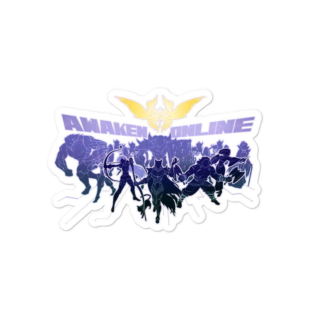 Awaken Online - Silhouettes - Bubble-free stickers