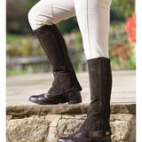 Adult Suede Half Chaps