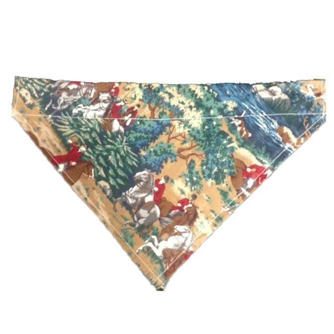 FoxHuntingShop.com-Dog Collar Bandana F.F. - Hunt Scene