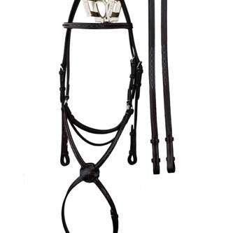 Rubber Lined Leather Reins