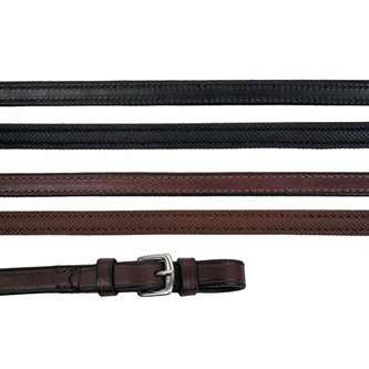 FoxHuntingShop.com-Rubber Lined Leather Reins