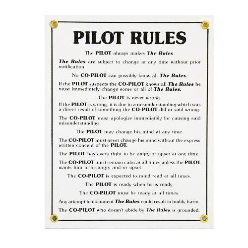 Placa Metalica Pilot Rules