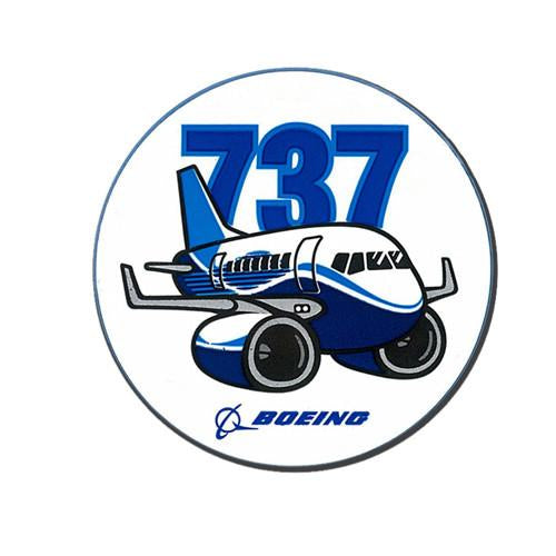 Sticker Boeing 737 Pudgy