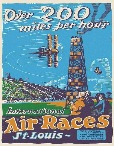 Placa metálica air races tin sign