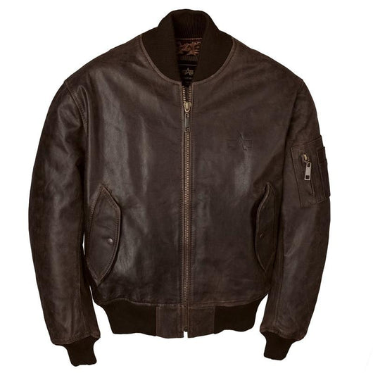 Chaqueta Alpha MA-1 Leather Brown