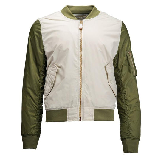 Chaqueta Alpha L-2B DRAGONFLY BLOOD CHIT Vintage White / Jungle Green