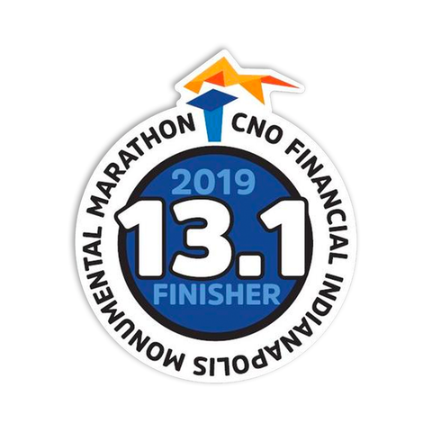 2019 Half Marathon Finisher Sticker