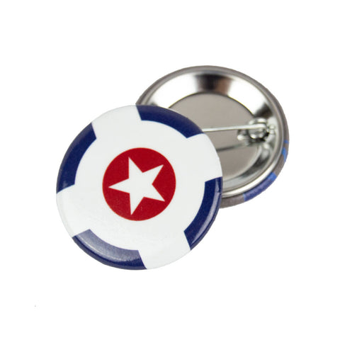 Indianapolis Flag Round Button
