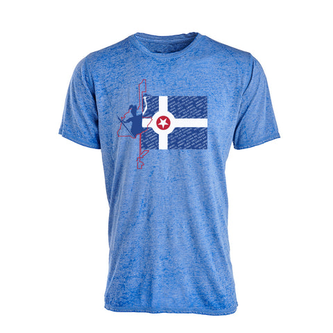 Jersey Short Sleeve Indy Flag/Course T-Shirt