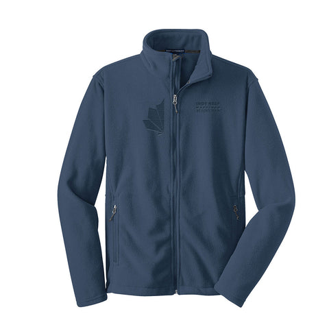 Men's Indy Half Laser Logoed Fleece Jacket