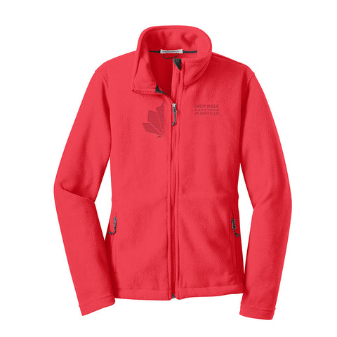 Ladies Indy Half Laser Logoed Fleece Jacket