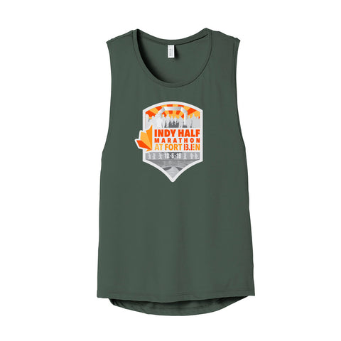 2018 Ladies Indy Half at Ft. Ben Scoop Muscle Tank