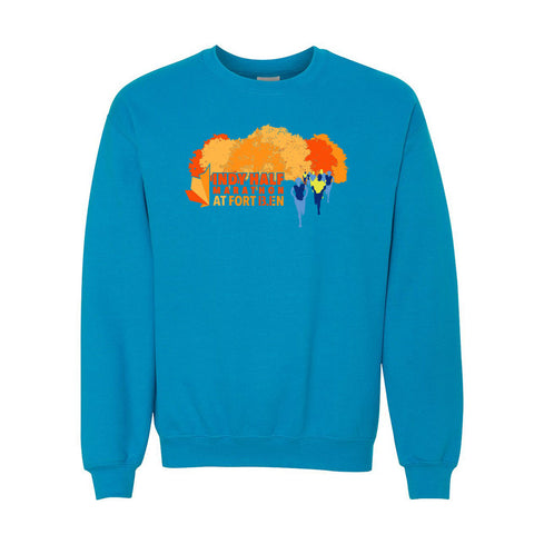 Indy Half Marathon at Fort Ben Crewneck Sweatshirt - Blue