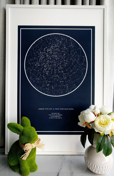 the night sky the original unique custom star map with 7000
