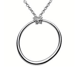 Irregular Circle Sterling Silver Necklace