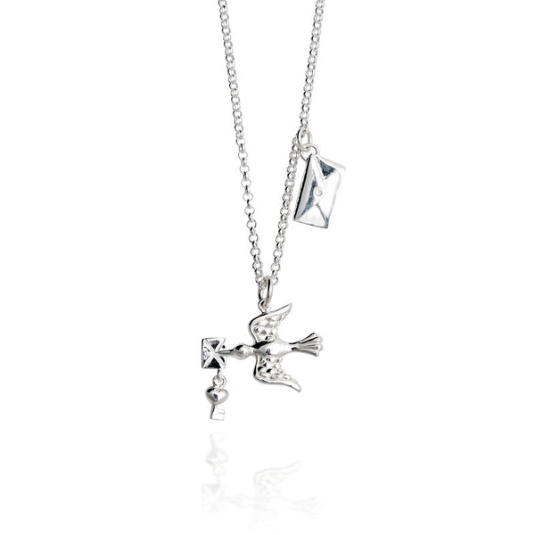 Love Letter Talisman Sterling Silver Charm Necklace