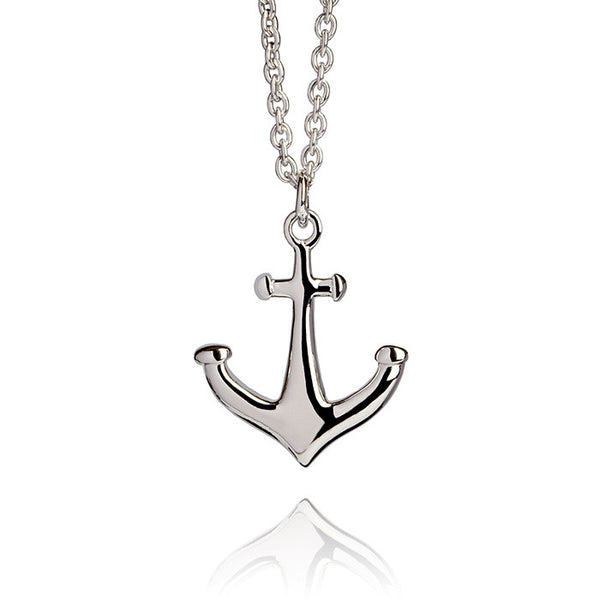 Anchor Talisman Sterling Silver Charm Necklace