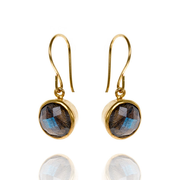Candy Labradorite Gold Vermeil Drop Earrings