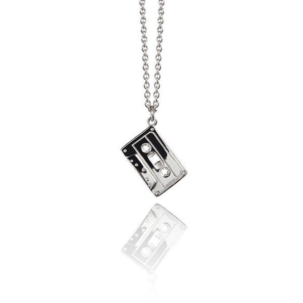 Cassette Talisman Sterling Silver Charm Necklace