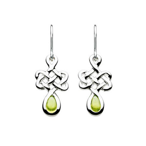 Celtic Knot Peridot Sterling Silver Earrings