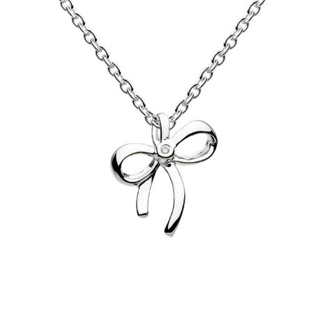 Diamond Bow Talisman Sterling Silver Pendant