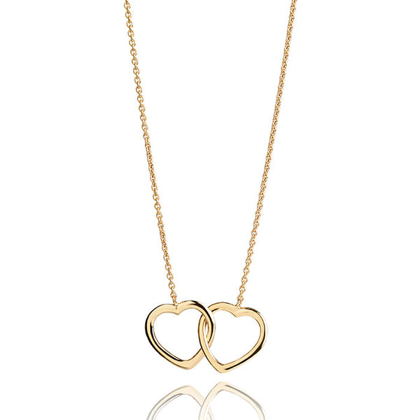 Inseparable Hearts Talisman Gold Vermeil Necklace