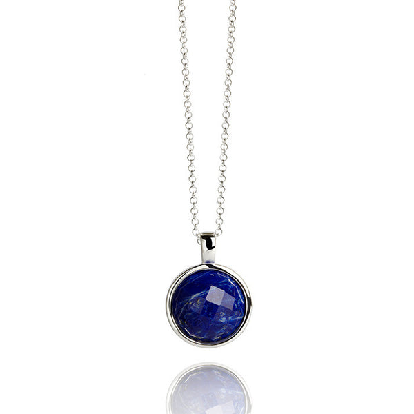 Monaco Lapis Sterling Silver Necklace